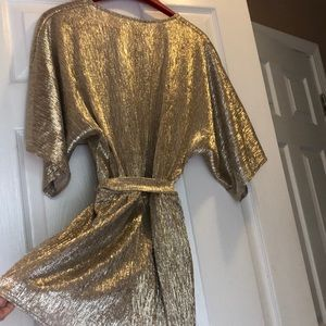 Lulu's Other - NWT LuLu's gold romper!